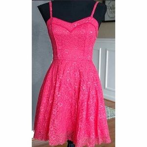 Delias Lace Fit and Flare Dress